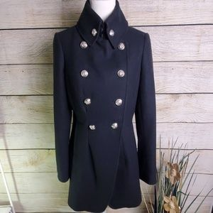 Worthington Military Heather Gray Wool Pea Coat